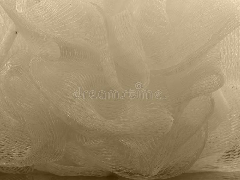 Bosje van basttextuur De zorg van de ruwe, bellendouche stock fotografie