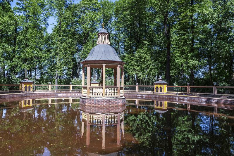 Bosket `Menagerie pond` in the Summer garden. Saint Petersburg,. Russia royalty free stock photography