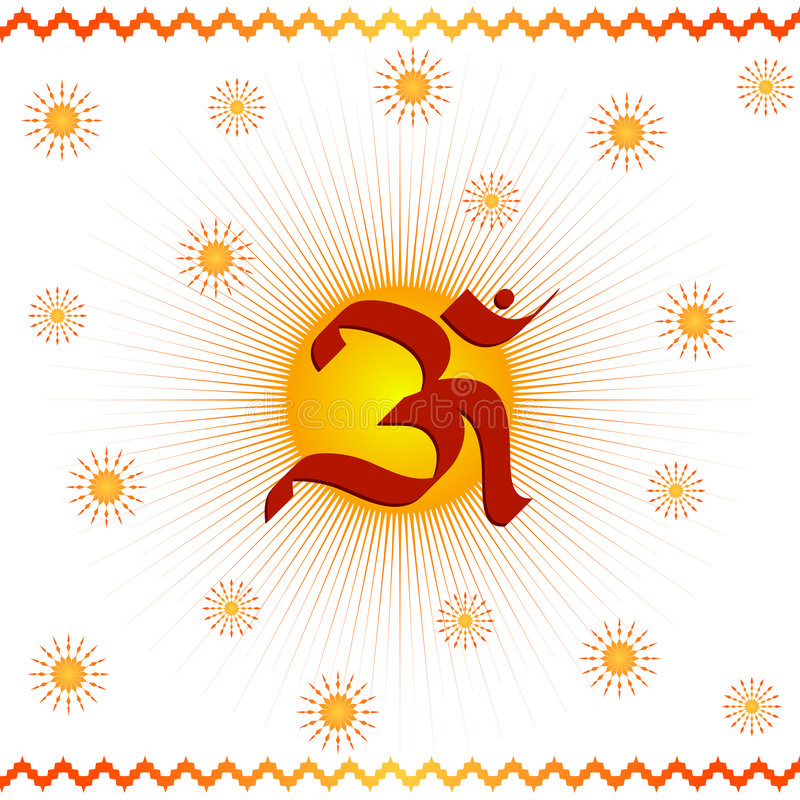 boski om symbol ilustracji