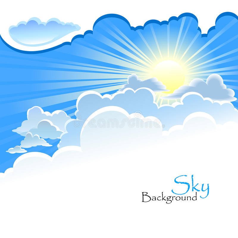 Boski tło - Sun w chmurze ilustracji