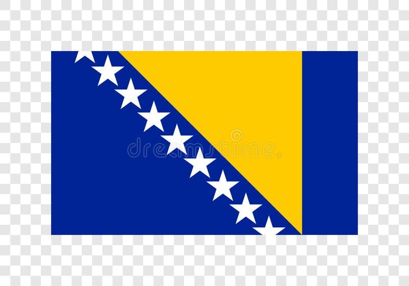 Bosnië-Herzegovina - Nationale Vlag vector illustratie