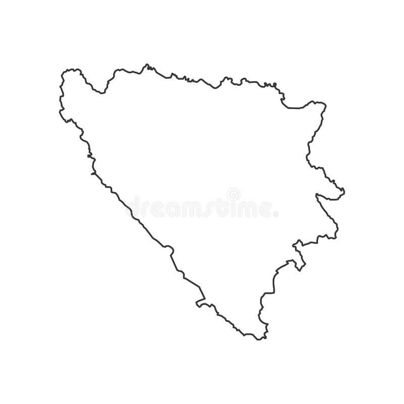 bosnia Hercegowina mapy, - royalty ilustracja