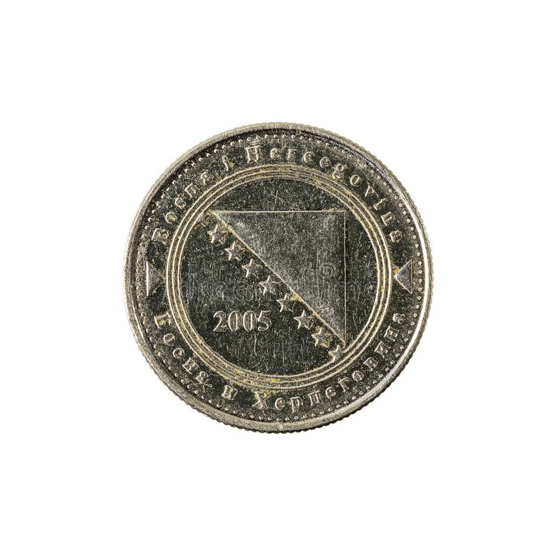 5 bosnia and herzegovina convertible fening coin 2005 reverse royalty free stock images