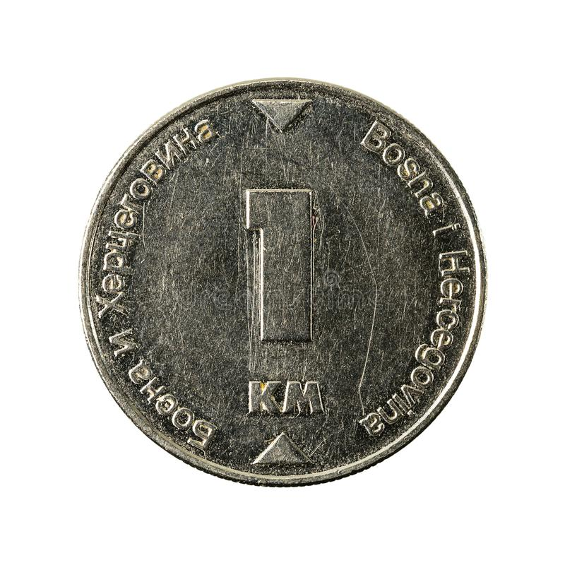 1 bosnia and herzegovina convertible mark coin 2002 obverse royalty free stock image