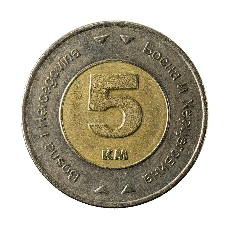 5 bosnia and herzegovina convertible mark coin 2009 obverse royalty free stock photography