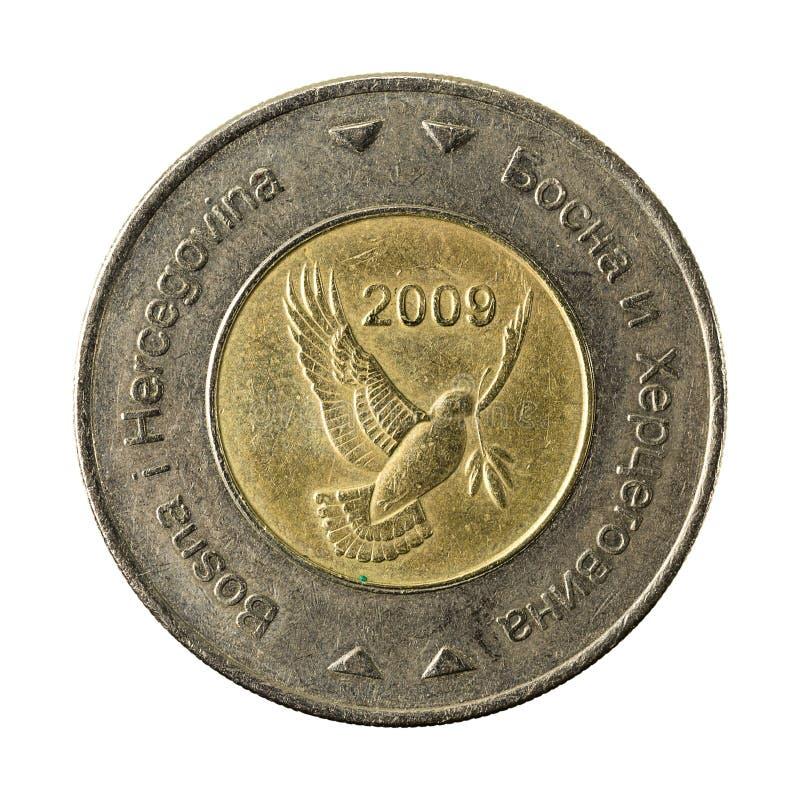5 bosnia and herzegovina convertible mark coin 2009 reverse stock image