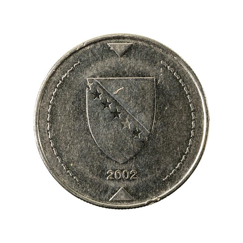 1 bosnia and herzegovina convertible mark coin 2002 reverse royalty free stock photo