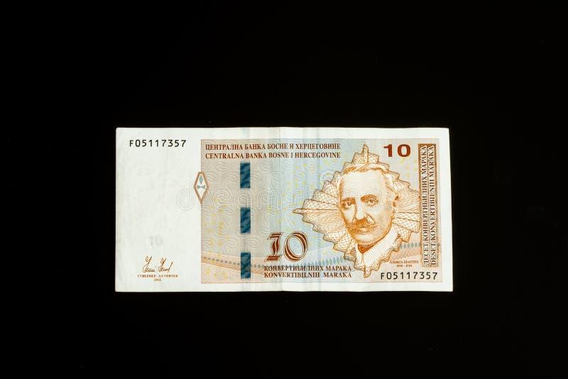 Bosnia and Herzegovina Convertible Mark note stock image
