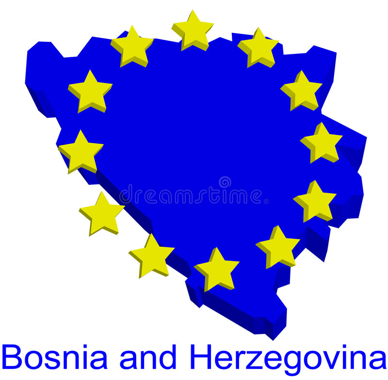 Download Bosnia And Herzegovina In EU Stock Vector - Illustration: 8946986