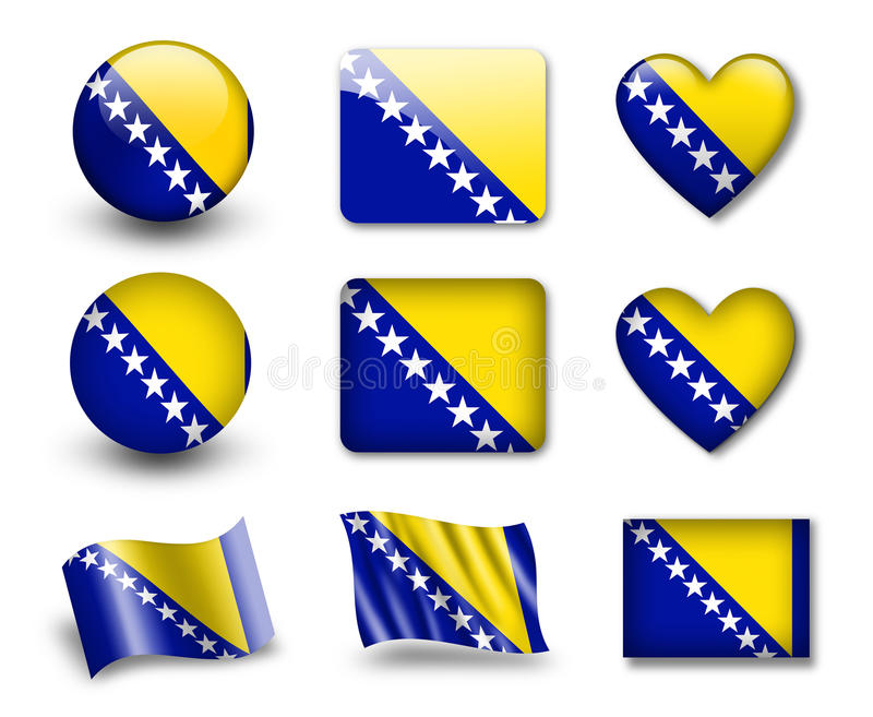 Download The Bosnia And Herzegovina Flag Royalty Free Stock Photography - Image: 23309327