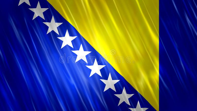 Bosnia and Herzegovina Flag. For Print, Wallpaper Purposes, Size : 7680  x 4320 Pixels, 300 dpi, Jpg Format royalty free stock photography