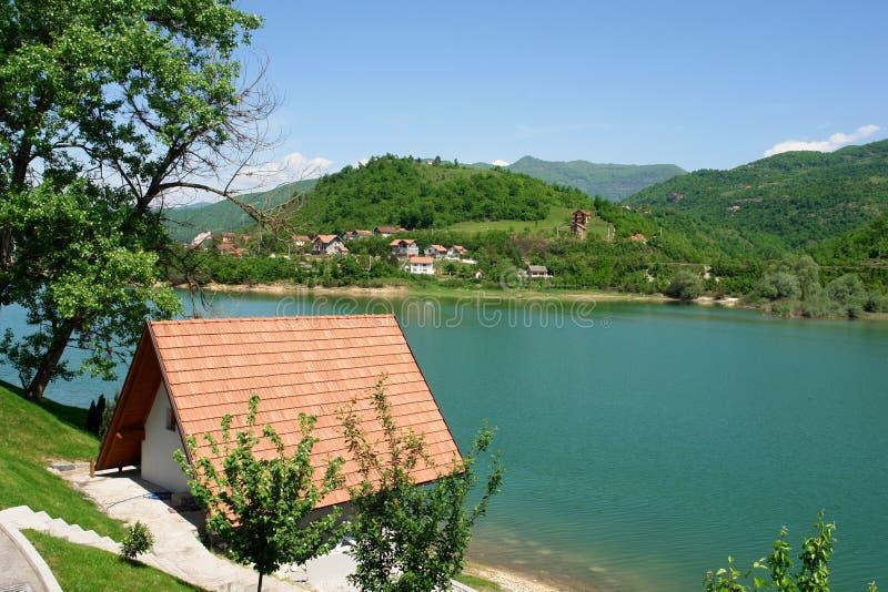 Bosnia - Herzegovina - Landschap in de lente stock afbeelding