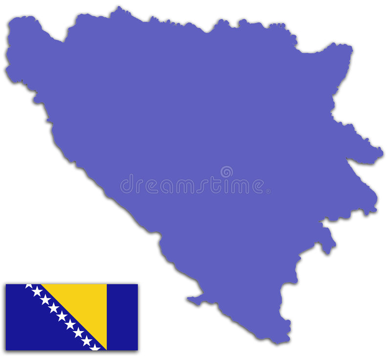 Download Bosnia And Herzegovina Map And Flag Stock Photos - Image: 6944073