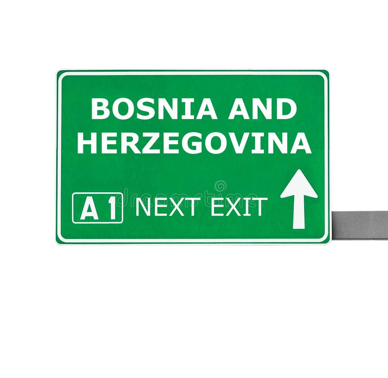 BOSNIA AND HERZEGOVINA road sign isolated on white royalty free stock images