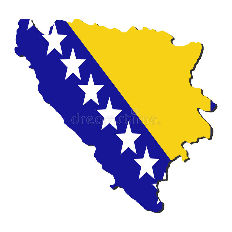 Download Bosnia Map Flag Stock Images - Image: 11445434