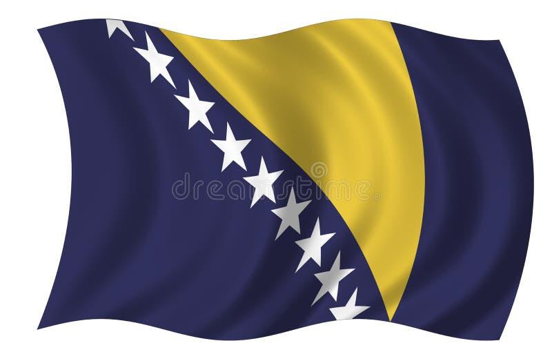 Bosnia - van Herzegovina Vlag vector illustratie