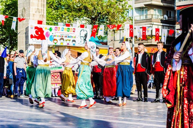 Bosnia y Herzegovina en celebración del día del ` nacional s de la soberanía y de los niños - Turquía imagenes de archivo