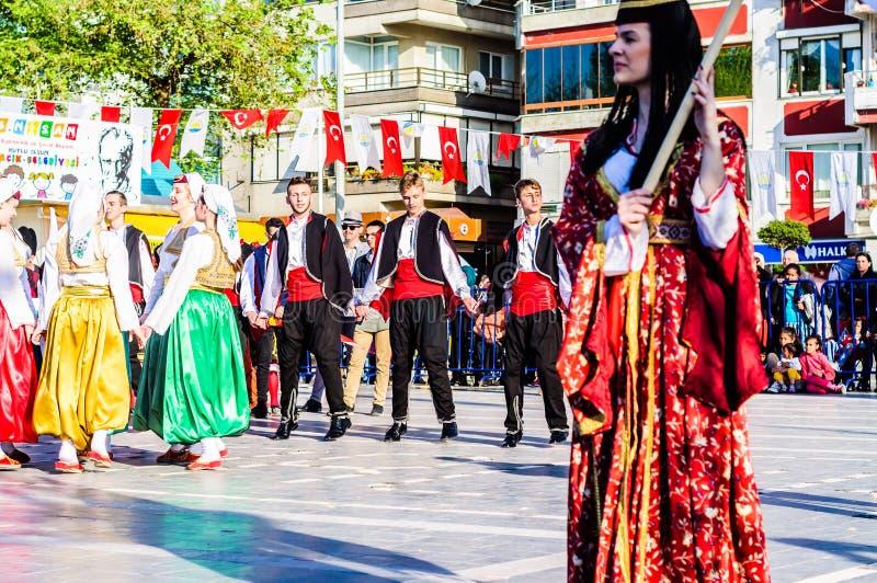Bosnia y Herzegovina en celebración del día del ` nacional s de la soberanía y de los niños - Turquía imagen de archivo libre de regalías