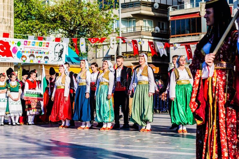 Bosnia y Herzegovina en celebración del día del ` nacional s de la soberanía y de los niños - Turquía imágenes de archivo libres de regalías
