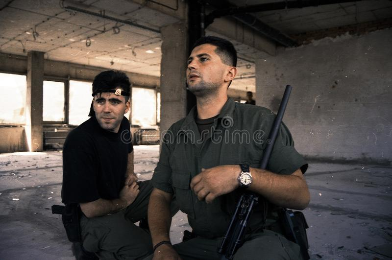BOSNIAN CIVIL WAR royalty free stock image