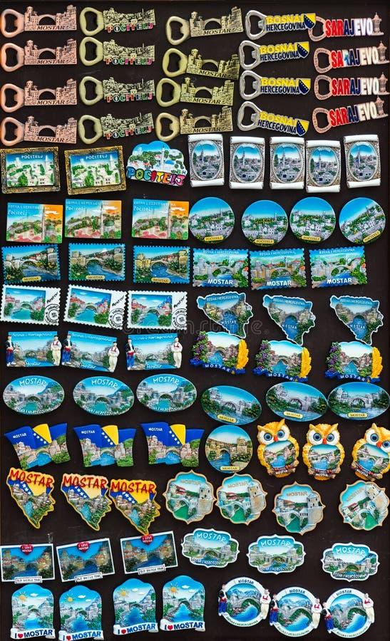 Bosnian souvenirs on display. Miscellaneous Bosnian souvenirs on display stock image