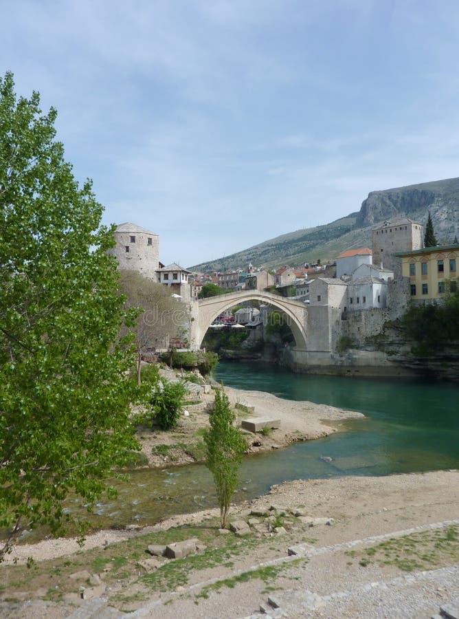 Bosnien - herzegovina mest mostar stari arkivfoto