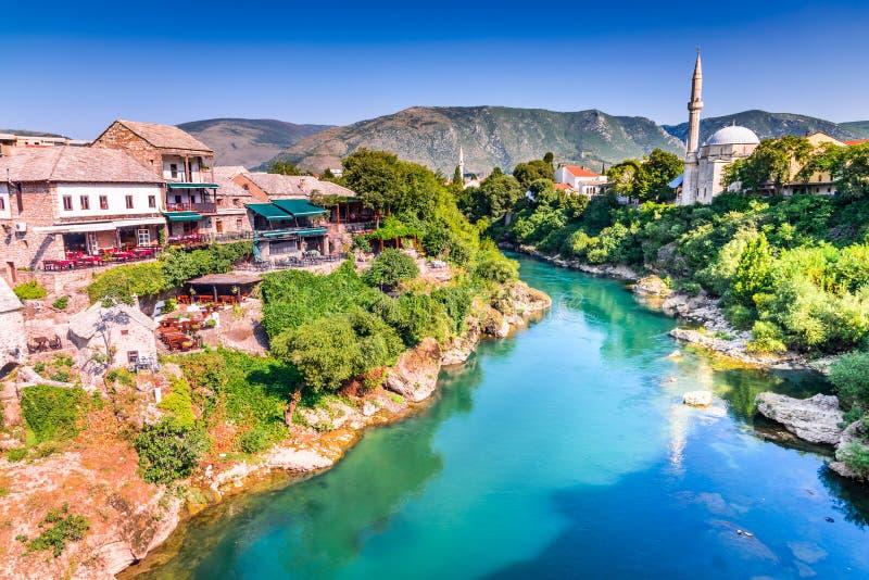 Bosnien - herzegovina mostar royaltyfria bilder