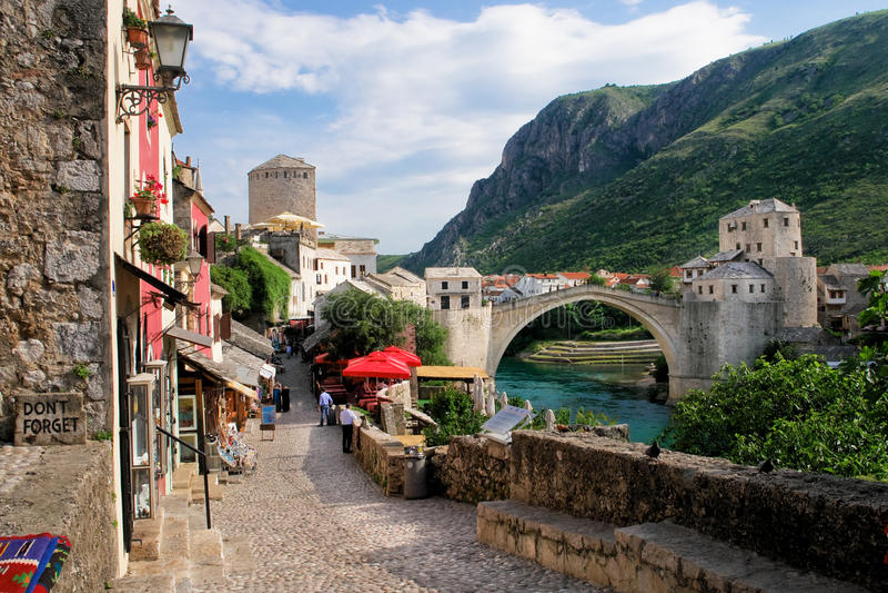 Bosnien - herzegovina mostar royaltyfri foto