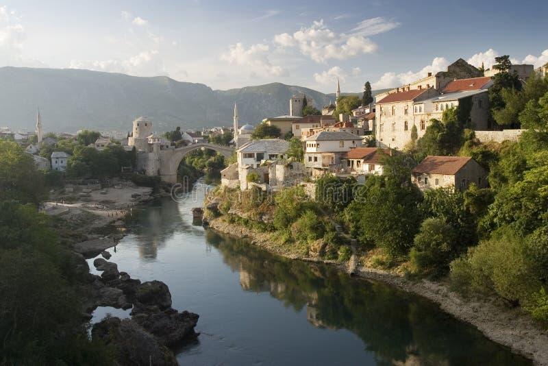 Bosnien - herzegovina mostar arkivbilder