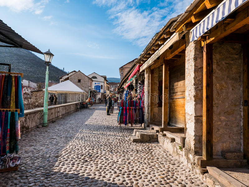 Bosnien - herzegovina mostar royaltyfri fotografi
