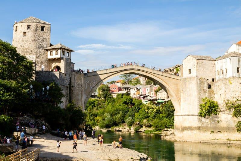 Bosnien - herzegovina mostar arkivbild