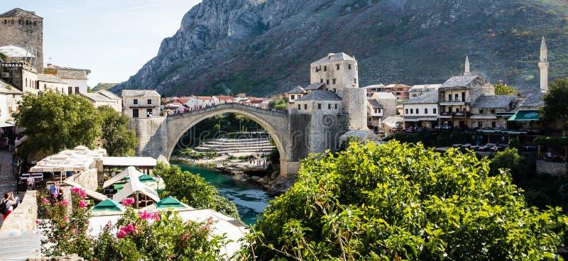 Bosnien - herzegovina mostar arkivfoton