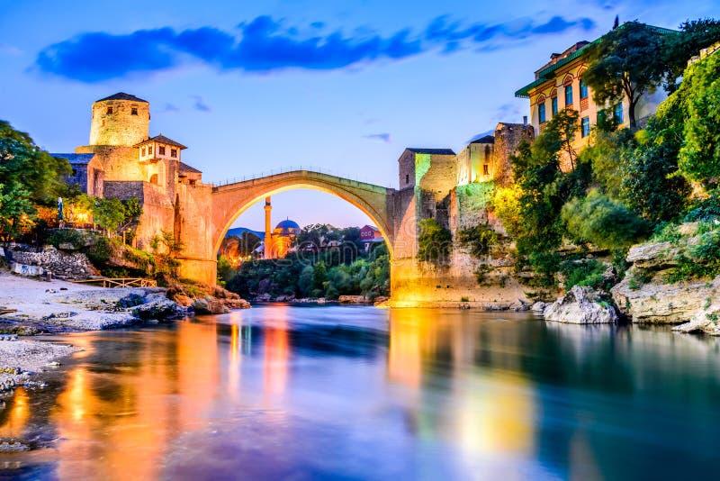 Bosnien - herzegovina mostar arkivfoto