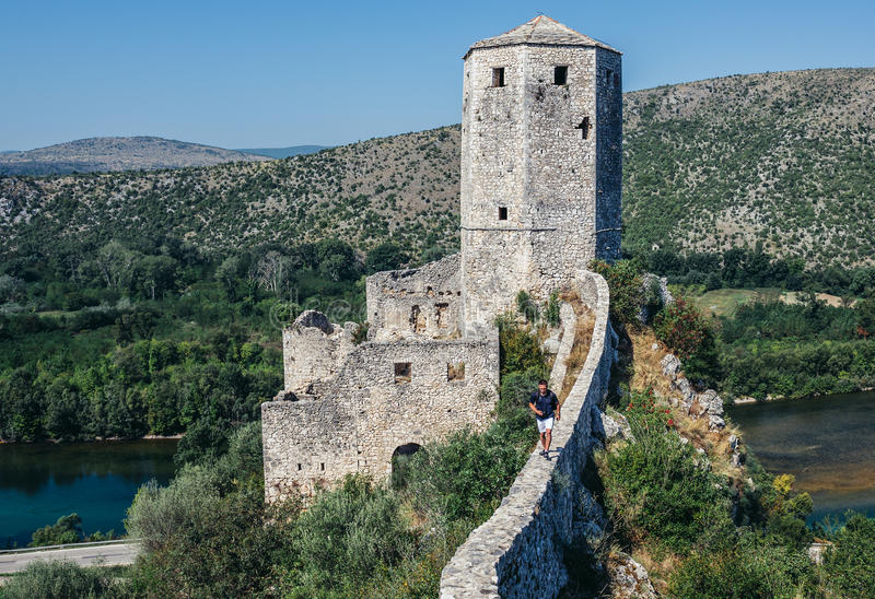 Bosnien - herzegovina pocitelj arkivbild