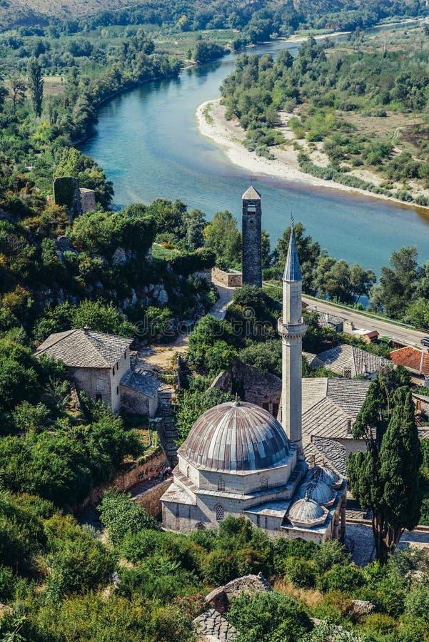 Bosnien - herzegovina pocitelj arkivfoton