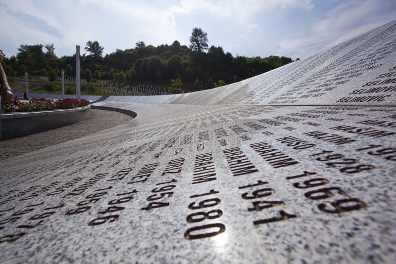Bosnien - herzegovina potocari srebrenica arkivfoto