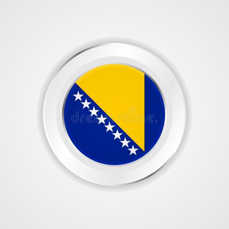 Bosnien-Herzegowinaflagge in der glatten Ikone lizenzfreie abbildung