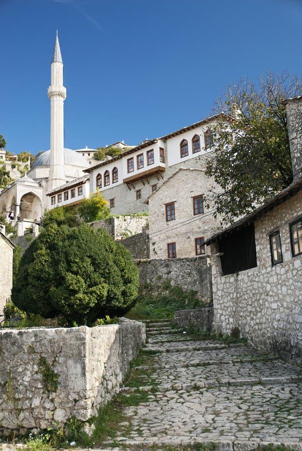 Bosnien mostar nära pociteljby fotografering för bildbyråer