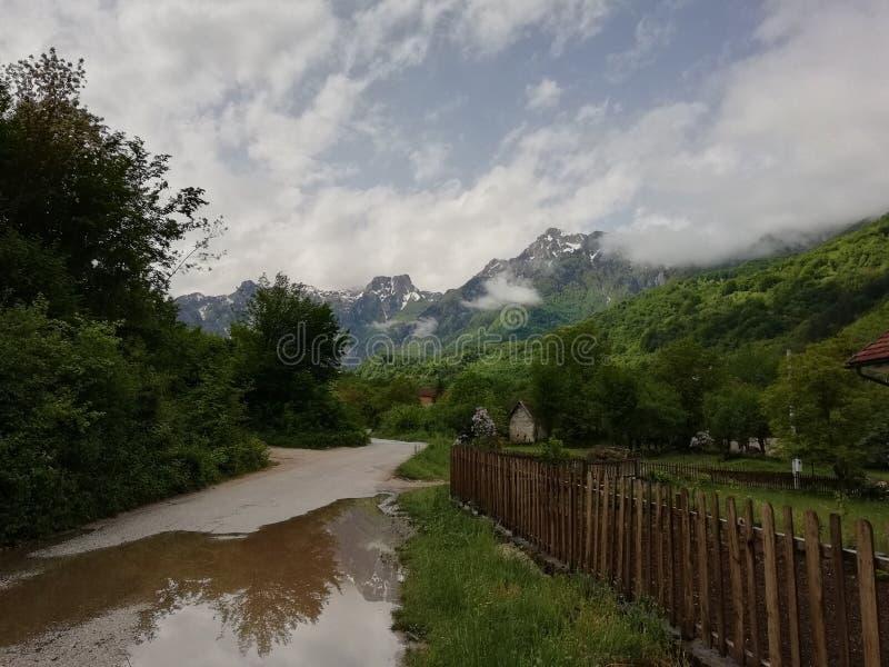 Bosnien-Straßen lizenzfreies stockfoto