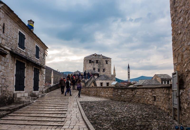 Bosnienbro herzegovina gammala mostar arkivfoto