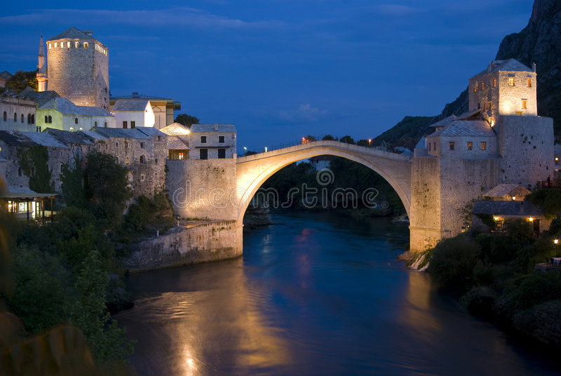 Bosnienbro herzegovina mostar royaltyfri fotografi