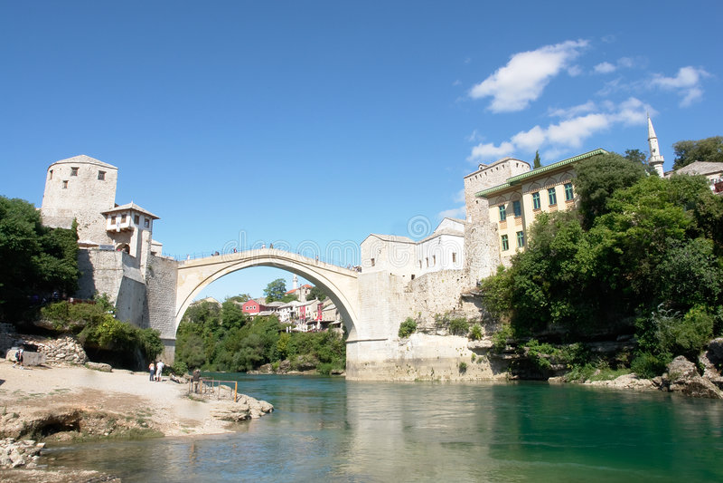 Bosnienbro herzegovina mostar arkivfoton