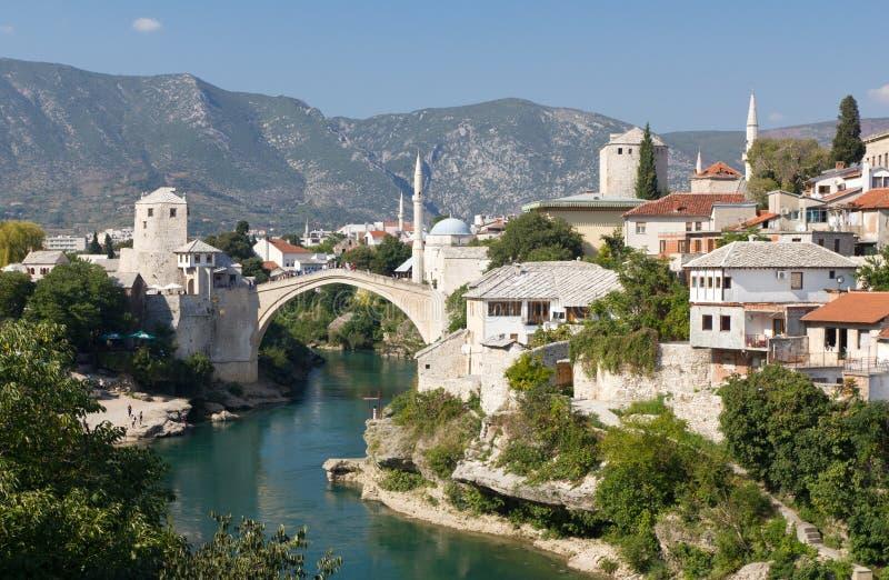 Bosniendestinationsmostar lopp royaltyfria foton