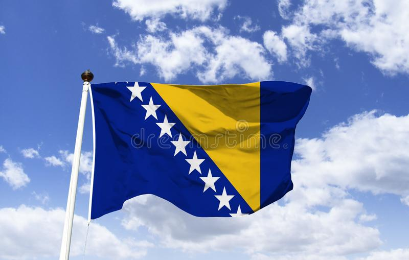 Bosnienflagga herzegovina royaltyfri foto