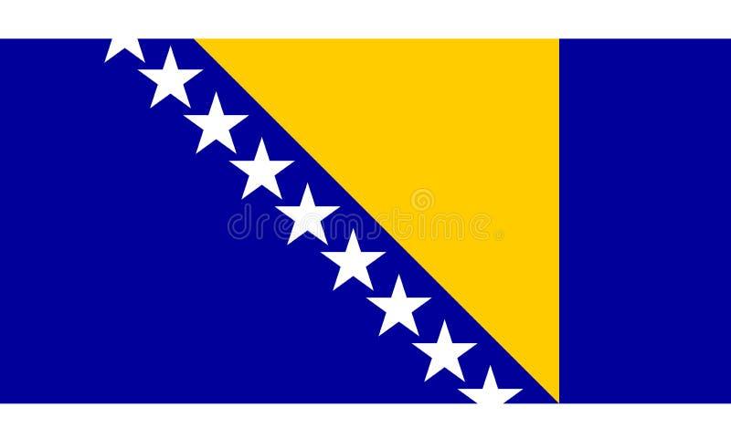 Bosnienflaggahertzigovina stock illustrationer