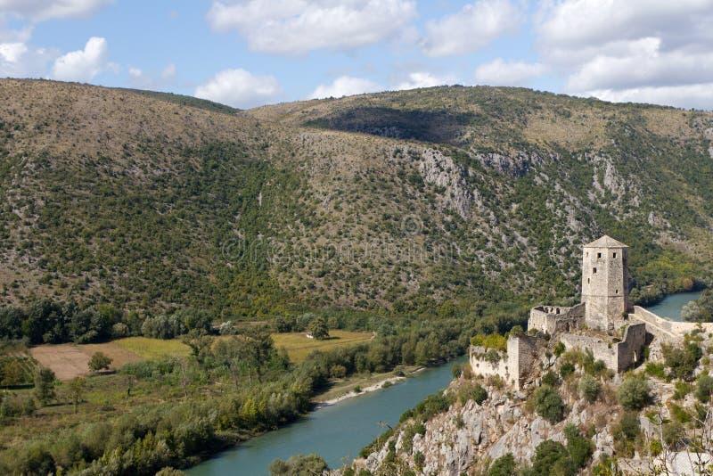 Bosnienforthercegovina mostar nära pocitelj royaltyfri foto
