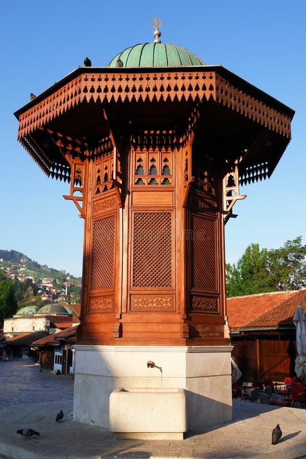 Bosnienfount herzegovina historiska sarajevo royaltyfri foto