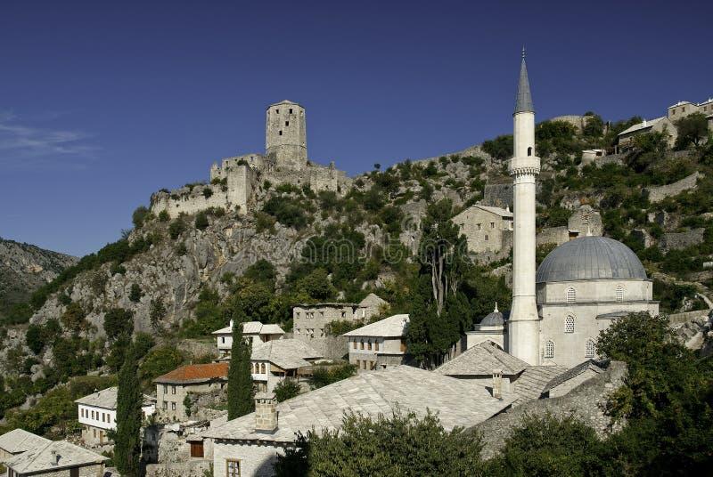 Bosnienhercegovina mostar nära pociteljby royaltyfri bild