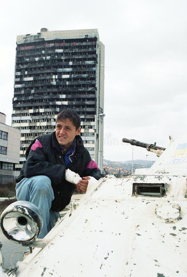 BOSNISCHE BURGEROORLOG stock foto