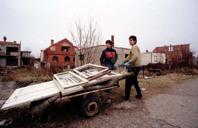 BOSNISCHE BURGEROORLOG royalty-vrije stock foto